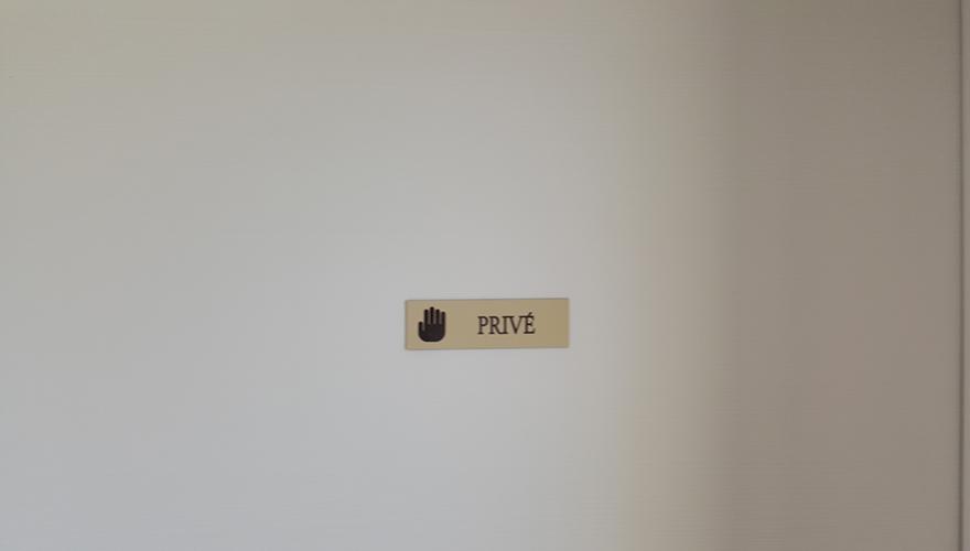 Plaque de porte en PVC 3mm