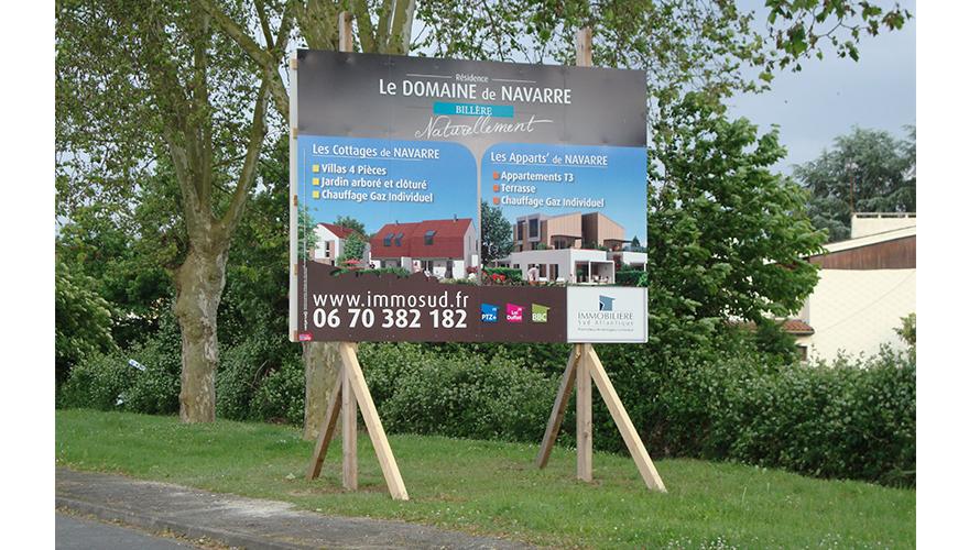 Panneau publicitaire promoteur immobilier